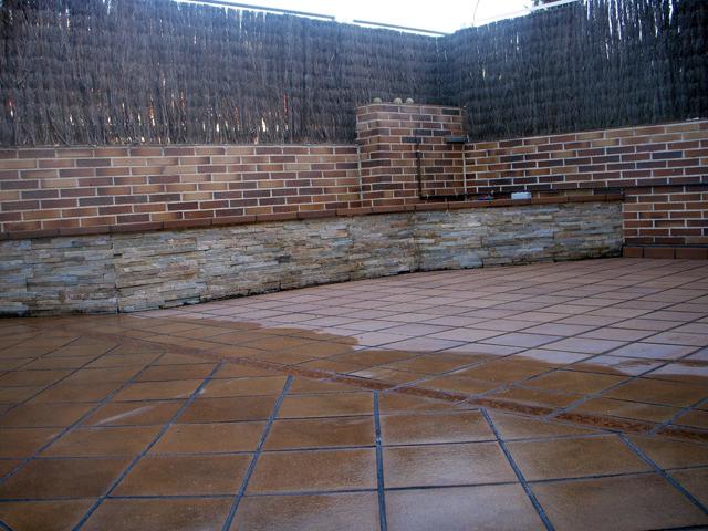 conserti sl reforma de patio de loseta de barro